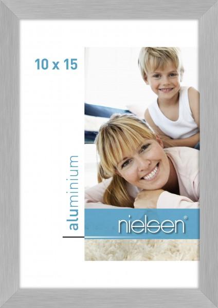 Nielsen C2 Alu-Bilderrahmen - 10x15 cm - Struktur Silber Matt