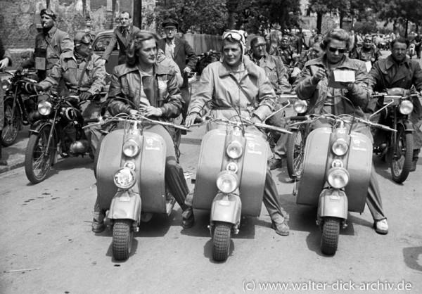 Das Thouret Trio bei der ADAC Deutschlandfahrt 1950
