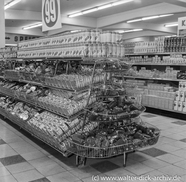 Supermarkt - Ein neues Einkaufserlebnis auch in Köln 1957