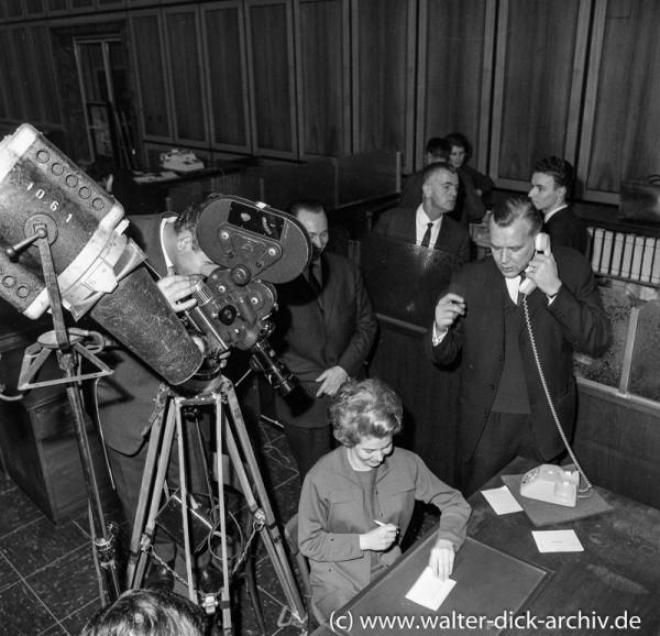 Kreissparkasse Köln - Filmaufnahmen Schalterhalle 1962