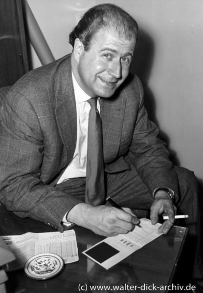 Hans Joachim Kulenkampff beim Lottospiel 1963