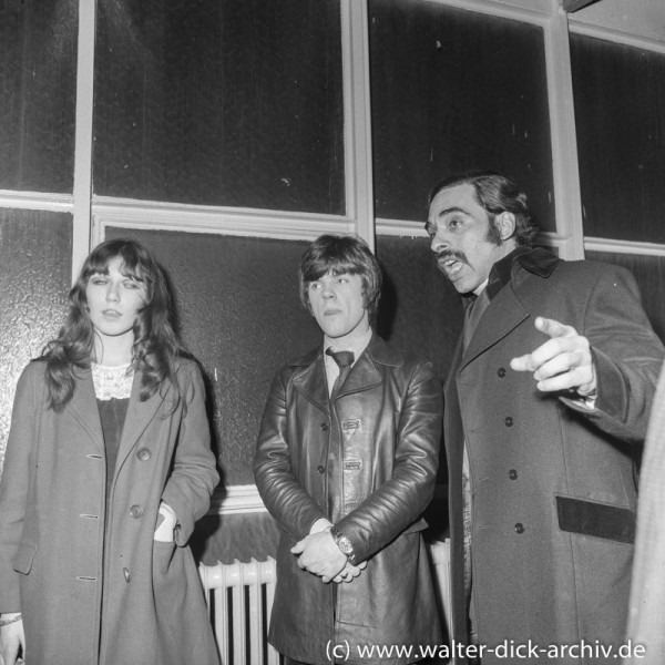 Pop-Stars in Köln 1968