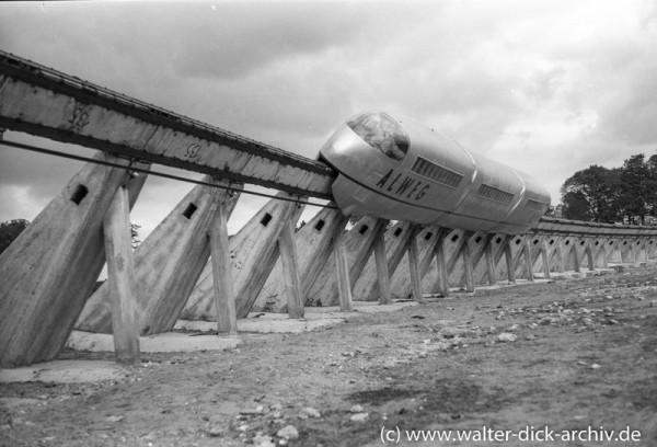Versuchsstrecke der ALWEG-Bahn 1952