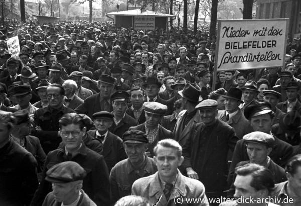 Großdemonstration der Gewerkschaften