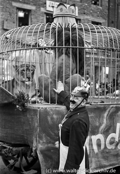 Wilde Löwen im Kölner Rosenmontagszug 1950