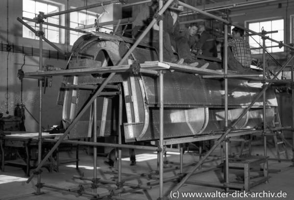 ALWEG-Bahn-Bau des Versuchszuges 1952
