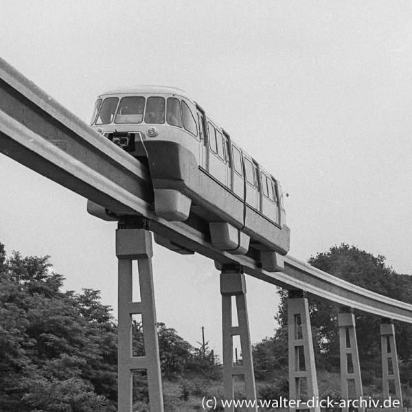 ALWEG-Bahn-Versuchszug Maßstab 1:1 1957