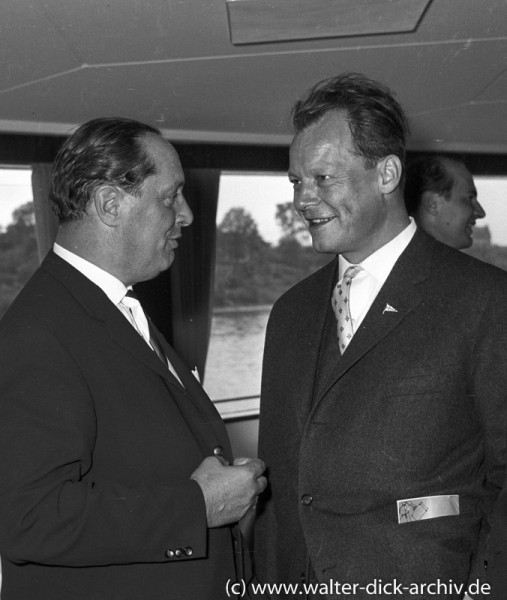 Willy Brandt und Theo Burauen 1959