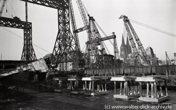 Bau der neuen Deutzer Brücke