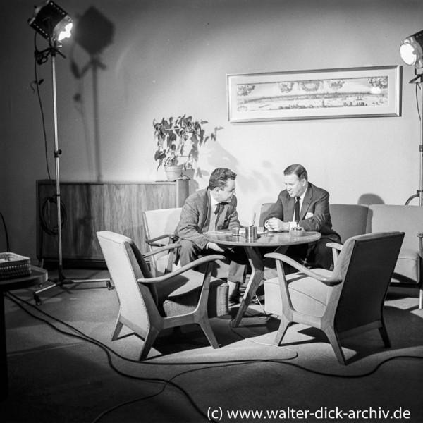 Hans Joachim Friedrichs im Gespräch mit Edsel Ford 1960