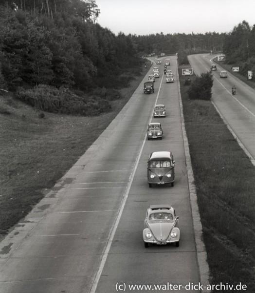 Auf der Autobahn A3-1961
