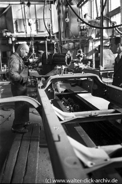 Rahmenbau für Lkw bei Ford Köln