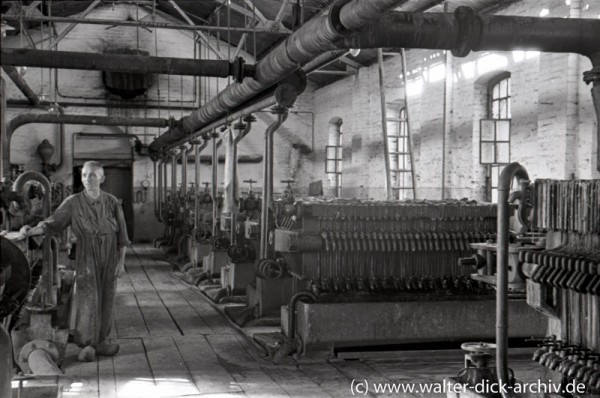 """""""Kampagne"""" in der Zuckerfabrik 1946"""