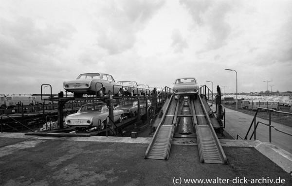 Bahnverladung bei Ford in Köln
