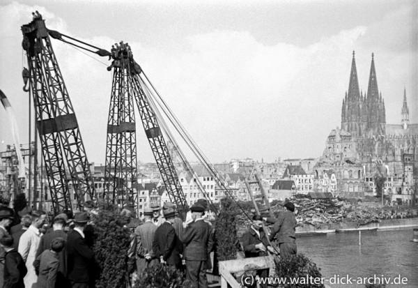 Baubeginn der Deutzer Brücke 1947