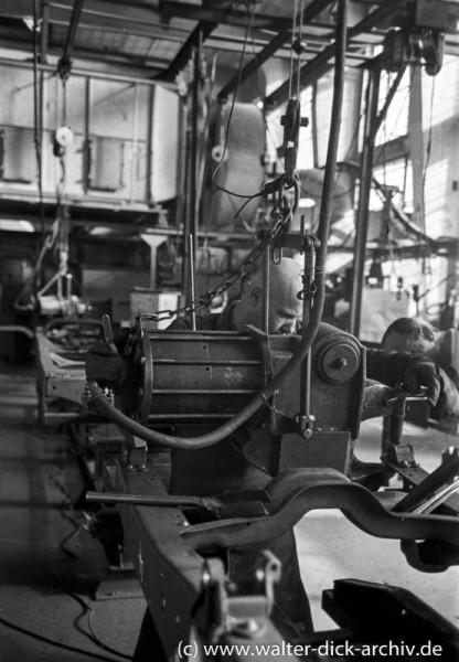 Lkw-Rahmenbau bei Ford Köln