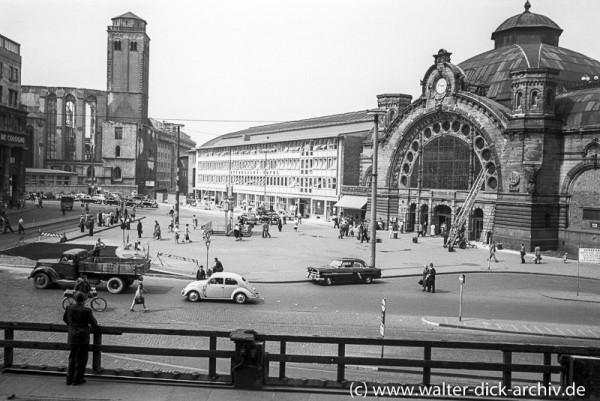 Der alte Hauptbahnhof 1954