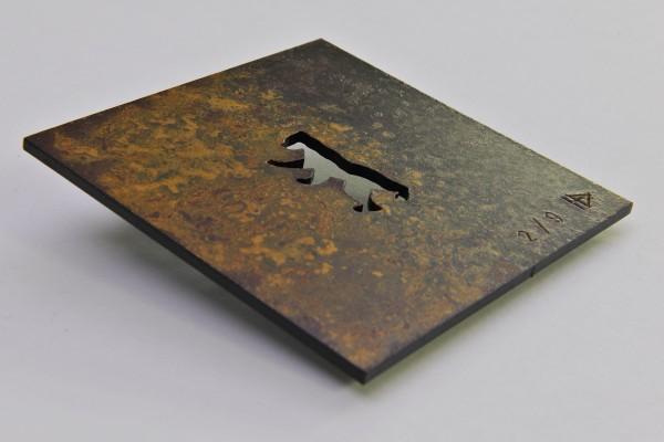 Berliner Bär Stahlplatte - Helmut Brands - Rostlook