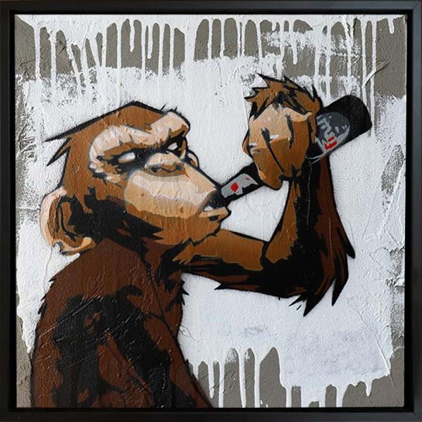 Mobile Graffiti - Schimpanse Petermann und Kölsch