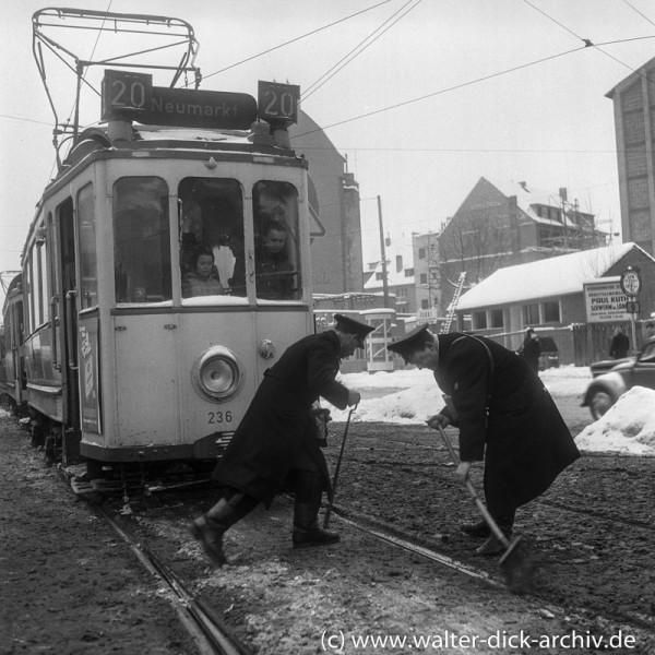 Winterprobleme auf dem Ring 1955