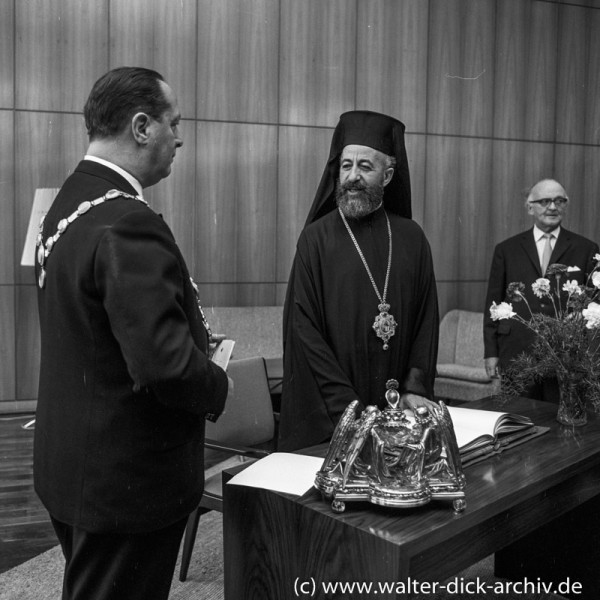 Erzbischof Makarios im Kölner Rathaus