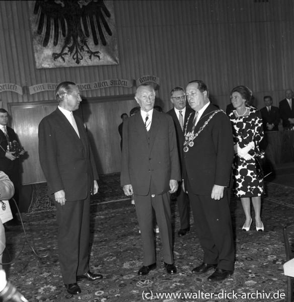 Konrad Adenauer im Kölner Rathaus 1964