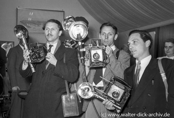 Photokina 1951 in Köln Fotografen