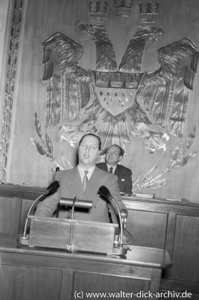 Theo Burauen am Rednerpult 1961