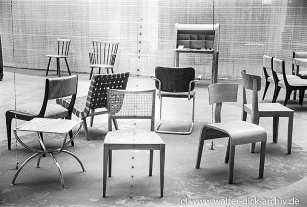 Kölner Werkbundausstellung 1949-moderne Stühle