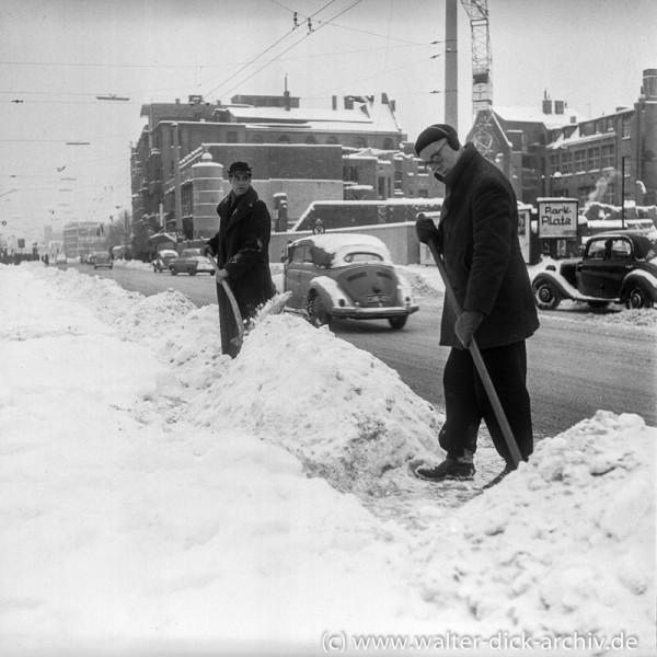Köln im Winter 1953