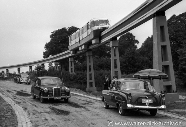 ALWEG-Bahn-Versuchszug Maßstab 1:1 1952