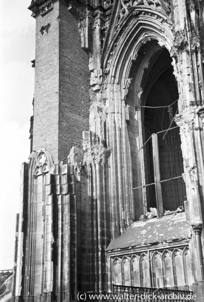 Kriegsschäden am Kölner Dom