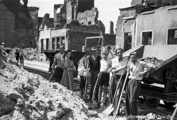 Trümmerräumung im Severinsviertel