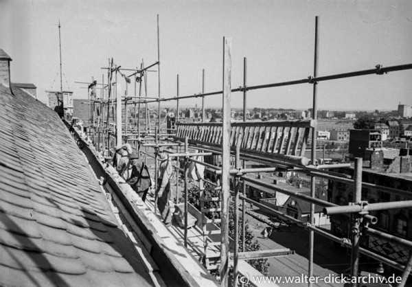 Wiederaufbau des Gürzenich 1954