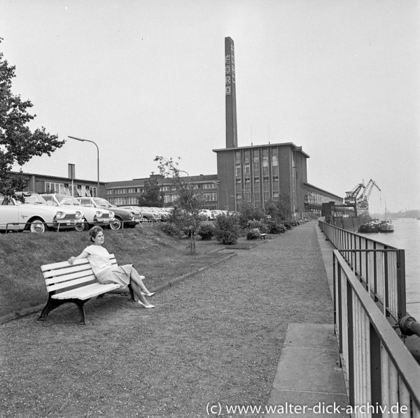 Ruhepause vor den Ford Werken in Köln