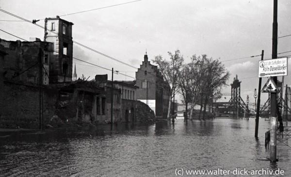 Hochwasser am Leystapel