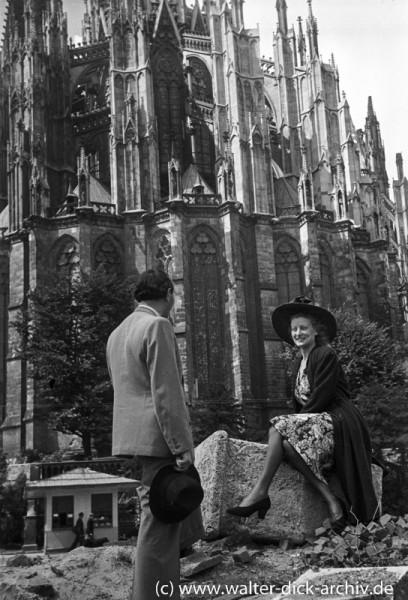 Neueste Mode am Kölner Dom