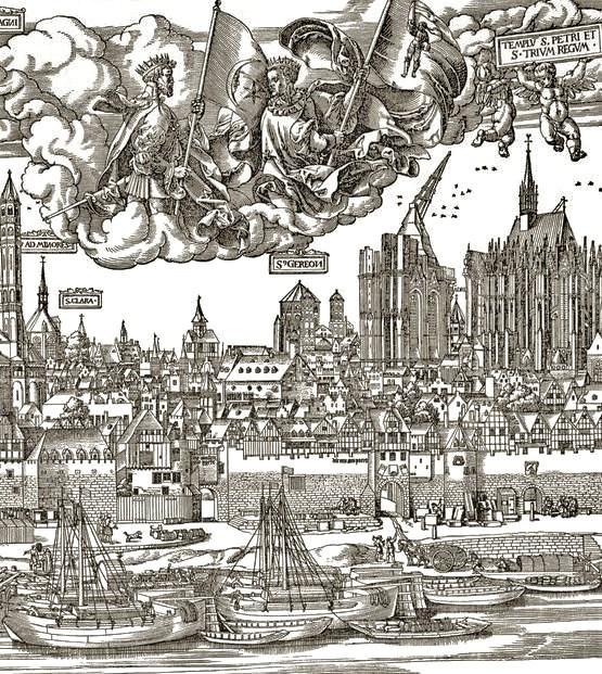 Koln_-_Stadtplan_Woensam_1531_Detail_Domumgebung