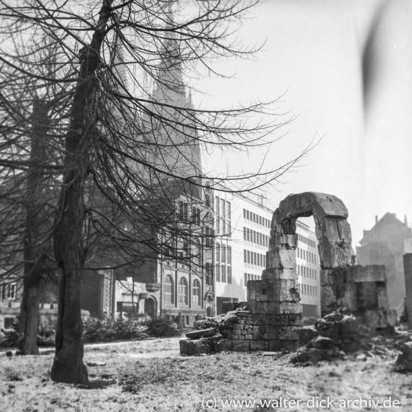 Reste des römischen Nordtors 1956