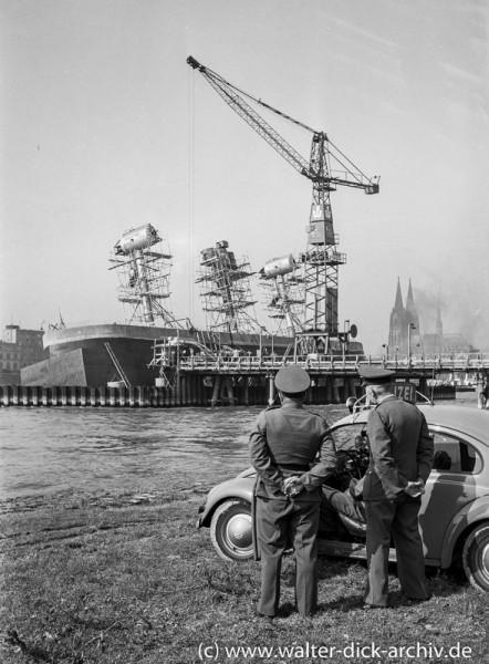 Unfall beim Bau der Kölner Severinsbrücke