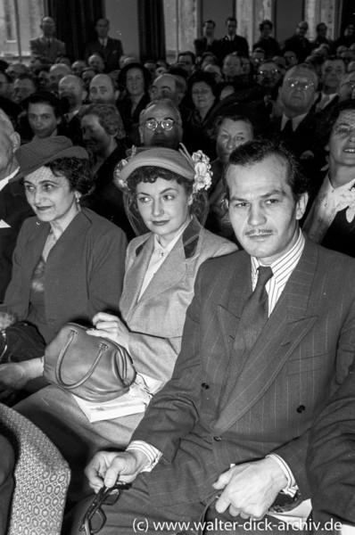 René Deltgen bei der Eröffnung der photokina-1951