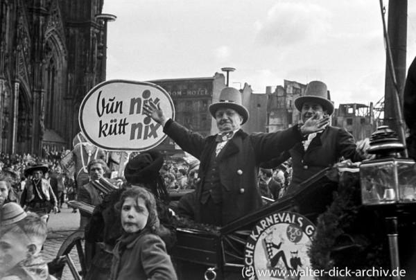 Vun nix kütt nix - Rosenmontag 1949