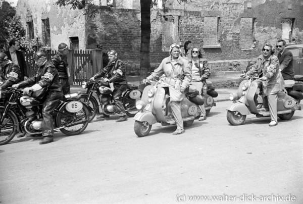 Bei der ADAC Deutschlandfahrt 1950