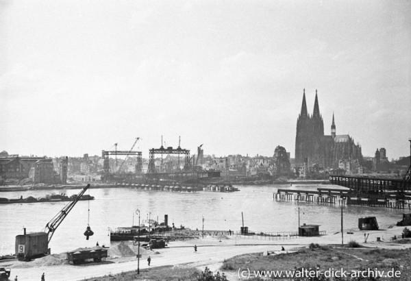 Die neue Köln-Deutzer Brücke entsteht.