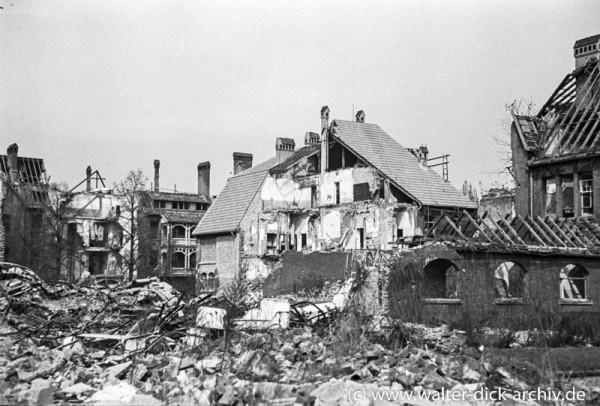 Zerstörungen in der Lindenburg