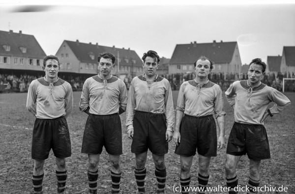 """Die drei """"Alfredos"""" Dortmunds Meisterstürmer 1957"""