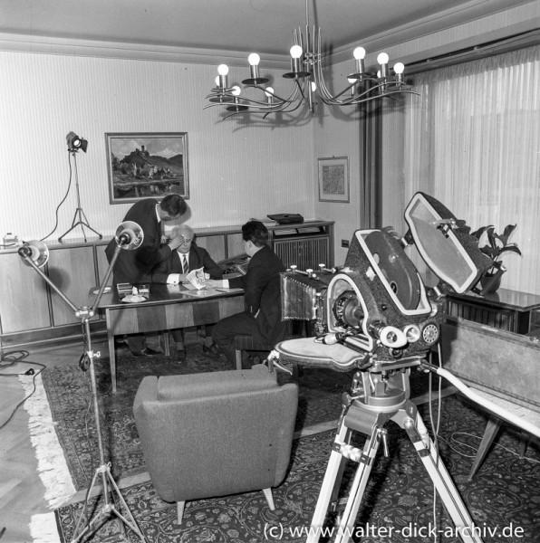 Kreissparkasse Köln - Filmaufnahmen Vorstandsbüro 1962