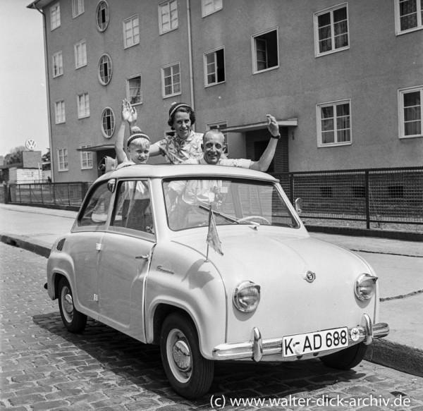 Das Goggomobil-auch für viele Kölner der Traum vom Auto 1957