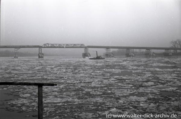 Pattonbrücke bei Eisgang