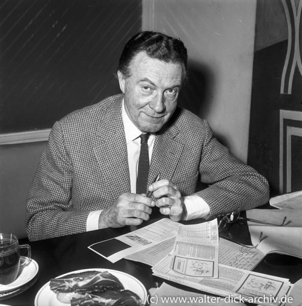 Willi Fritsch beim Lottospiel 1963